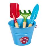 Set complet unelte de gradina pentru copii KIDS GARDEN - culoare albastra,...