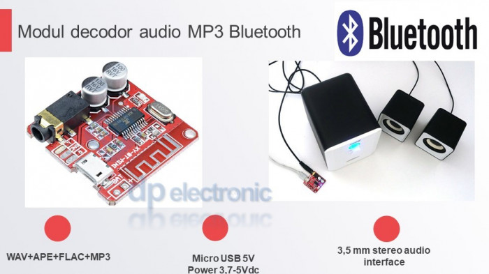 Modul receiver audio bluetooth BLE 4.2