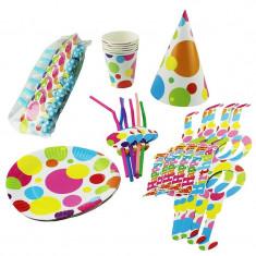 Set accesorii petrecere Clown Party, 6 persoane, 36 piese multicolore