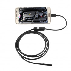 CAMERA VIDEO ENDOSCOP 7mm , lungime 3.5m pt. ANDROID si PC cu iluminare LED