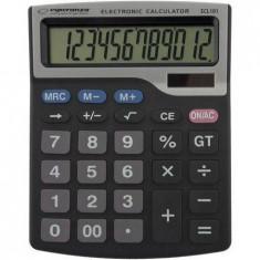 Calculator de birou Esperanza ECL101 electronic 12 digits Negru