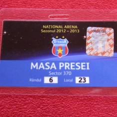 Acreditare presa - fotbal STEAUA Bucuresti (sezonul 2012/2013)