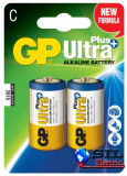 Baterie alcalina UltraPLus GP R14 (C) 2 buc/blister, G&P