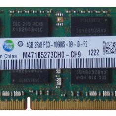 Memorie ram sodimm SAMSUNG 4Gb DDR3 1333Mhz PC3-10600S 1.5V, m471b5273ch0-ch9