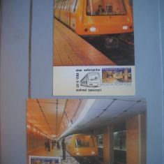 HOPCT  MAXIMA  72941 SET 2 MAXIME METROUL DIN BUCURESTI 1982 -TRANSPORT  ROMANIA
