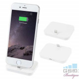 Incarcator Tip Suport Dock Lightning iPhone 5 5c 5s 6 6 Plus 6s 6s Plus 7 7 Plus 8 8 Plus X Alb, Apple