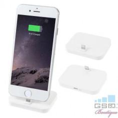 Incarcator Tip Suport Dock Lightning iPhone 5 5c 5s 6 6 Plus 6s 6s Plus 7 7 Plus 8 8 Plus X Alb, Apple