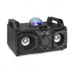 Fenton KAR100, stație pentru karaoke, 100W, pe baterie, USB, bluetooth, intrare AUX, negru