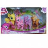 Set ponei fetite 4 /set + accesorii par, 4-6 ani, Plastic