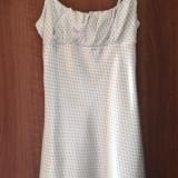 Shop my closet! Rochie de vară albă cu steluțe gri Denny Rose, 36