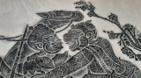 Tablou vechi sepia gravură