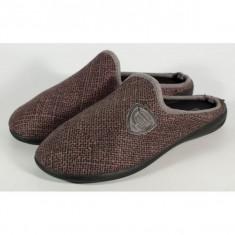 Papuci de casa maro cu negru din plus - 11998