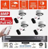 Cumpara ieftin Kit Supraveghere video 4 camere Rovision 4K, 8MP IR60m , DVR 8 canale Hikvision, zoom motorizat