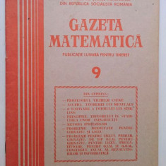 Gazeta matematica nr 9 din 1985