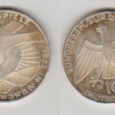 Germania 1972 - 10 Mark, Jocurile Olimpice, Ag