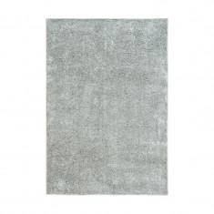 Covor cu fir lung poliester, 195 x 133 cm, gri