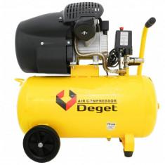 Compresor de aer industrial 50L 2.8kW 2cil. ZBV30-50 DEGET V81152