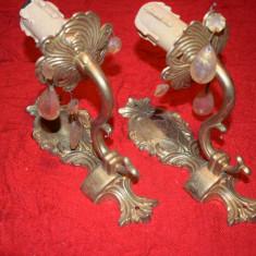 Pereche aplice din bronz masiv  cu un brat  18,5 cm NR 13