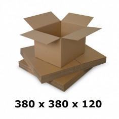 Cutie carton 380x380x120, natur, 3 starturi CO3, 435 g/mp