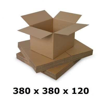 Cutie carton 380x380x120, natur, 3 starturi CO3, 435 g/mp foto