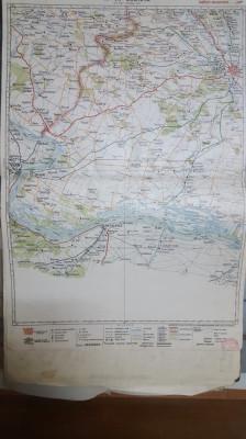 Harta Craiova, Vidin, Calafat, Plenița, Lom Palanka, Jud. Mehedinți, 1929 foto