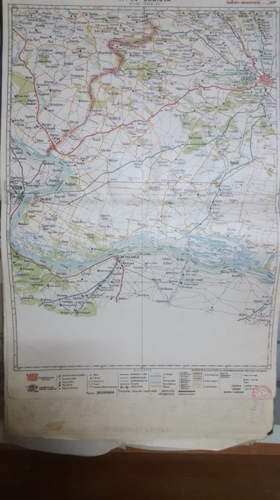 Harta Craiova, Vidin, Calafat, Plenița, Lom Palanka, Jud. Mehedinți, 1929