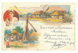 1659 - ETHNIC, Country Life, Litho, Romania - old postcard - used - 1900