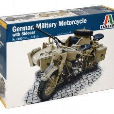 1:9 German Milit.Motorcycle with Sidecar 1:9