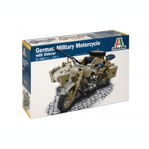 1:9 German Milit.Motorcycle with Sidecar 1:9