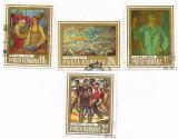 Reproduceri de arta - Munca, 1973 - valori obliterate, Stampilat