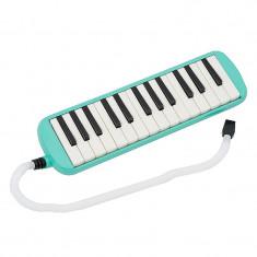 Instrument muzical tip melodica, 32 de clape, albastru