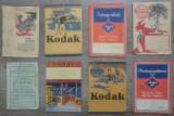 Lot 8 plicuri pentru fotografii, cu reclame, din perioada interbelica