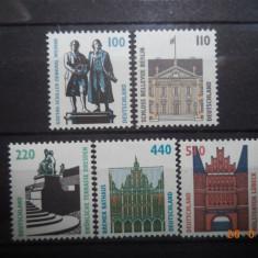1997  Germania Mi 1934 - 1938  Serie completa**, Nestampilat