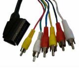 Cablu Generic Scart - 6x RCA 1.5m Black