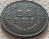 Moneda ISTORICA 20 LEI - ROMANIA, anul 1944  *cod 190 - ZINC, FRUMOASA!