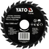 Disc circular raspel pentru lemn 115 x 5 x 22.2 mm Yato YT-59160