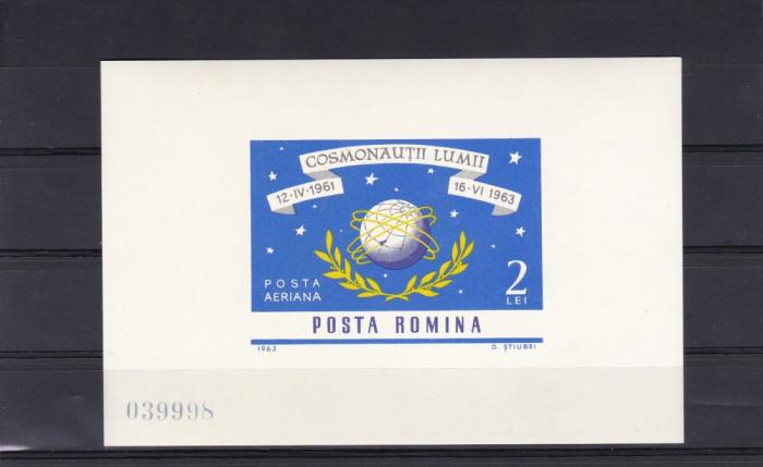 ROMANIA 1963   LP  577   NAVIGATIA   COSMICA   COLITA   NEDANTELATA   MNH