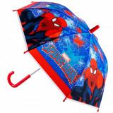 Umbrela pentru copii, 54×65 cm, model spiderman, rosu/albastru