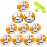 Pachet 10 mingi Molten F5U3600, model UEFA, Hybrid cusaturi sigilate + 11 maieuri antrenament Anastasia Sport