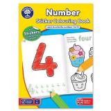 Carte de colorat cu activitati in limba engleza si abtibilduri Invata numerele NUMBER, orchard toys