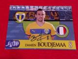 Foto cu autograf original - fotbalistul DAMIEN BOUDJEMAA (PETROLUL Ploiesti)