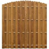 Panou gard cu șipci alternative, 170x(156-170) cm, pin tratat, vidaXL