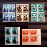 JAMBOREEA NATIONALA MAMA-1934-5 BLOCURI DE 4- LIPSA VALOAREA DE 1 LEU, Nestampilat