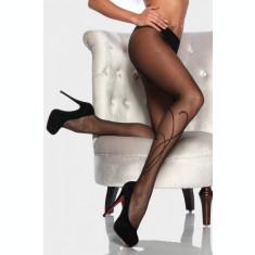 Ciorapi Negri Femei Model Floral 20 DEN