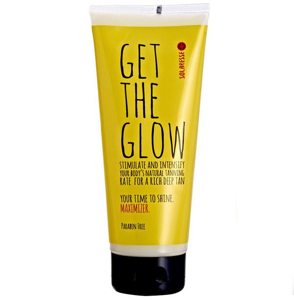 Lotiune intensificatoare SOLARESSE Get The Glow pentru accelerarea bronzului cu Vitamina E Aloe Vera 200 ml