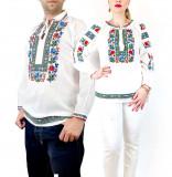 Cumpara ieftin Set Cuplu Traditional 119 Camasi traditionale cu broderie