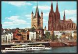 GERMANIA: KOLN AM RHEIN RHEINUFER MIT DOM UND GROSS - CP CIRCULATA #colectosfera