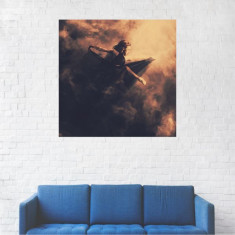 Tablou Canvas, Femeia din nori - 20 x 20 cm