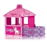 Casuta cu gard pentru copii - Unicorn PlayLearn Toys, DOLU