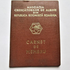 Carnet de Membru (Apicultor) Asociatia Crescatorilor de Albine, din 1980